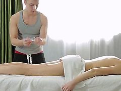 This is another amazing chapter in the wonderful massage genre. It seems that Gerta would get more than just pleasant ass massaging. Her masseur guy wants to add some steam.