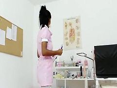 Sleaze spanish nurse internal vagina cervix closeups
