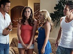 Tori Black, Lexi belle and Jasmine Delaton feature this video with three different sexual scenes with three of the top male pornstars out there.