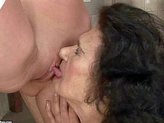 Juicy girl Chanel in high white boots gets her asshole and pussy licked by hot blooded lesbian granny Laura. They give 69 position a try on the floor. Horny mature woman cant get enough.