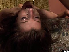 Cock-sucking beauty Italia Christie is making a blowjob and starting to fuck with her perverted bf