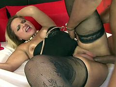 Arousing milf enjoys black meat
