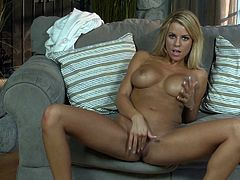 Nicole Graves is a hot blonde chick with big boobs and amazingly beautiful body. She loves playing with her sweet pussy more than anything on earth.