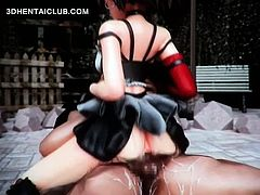 Teen anime nympho gets slurping cunt fucked hard