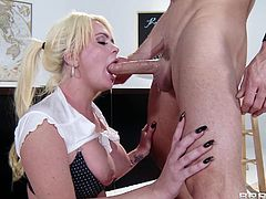 Arousing blonde schoolgirl enjoys hard sex session with her hory teacher