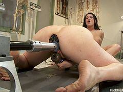 Watch this horny lesbians perform pussy licking while they get banged hard by the machines. This sexy lesbians show why vibrators are so good!