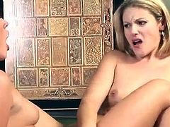 You'll bust a really big nut with this hot lesbian scene among two hot babes. Watch this horny masseuse and her client having a great time with one another.