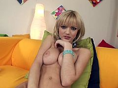 Blonde Szofya Cox is poking her lovely snatch