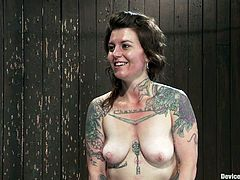 Vivienne Del Rio is the tattooed vixen featured in this extreme bondage BDSM porn video where she's also toyed and tortured a bit.