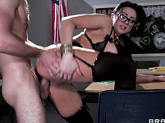 Busty prof audrey bitoni enjoys a hot fuck