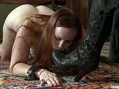 This sex slaves will be under their dominatrix's commands. Watch this submissive sluts eating up each other's pussy and getting spanked hard by their mistress.