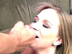 Nice college video with a popular cock sucker Katie Zane. She likes to swallow deep throat the gigantic erected dicks, to lick the balls and to eat the hot fresh sperm after the orgasm