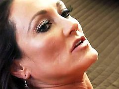 Adorable brunette curve Keiran Lee swallows deep throat the erected Michelle Lays instrument and then gives her tasty whole for aggressive drilling. She isnt young - but experienced