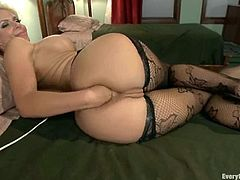 These chicks love deep anal penetration. So, they fist and fuck each others asses with strap-ons. They also gape their asses with metal tongs.