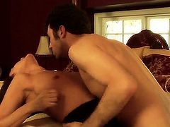 Pretty young couple James Deen and his beauty girl Michelle Lay are enjoying great pleasure of passionate fuck with naughty licking and sucking hot actions!