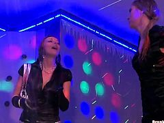 Spoiled Russian milfs dance seductively on the scene