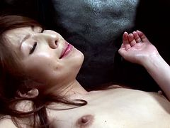 Lewd Japanese hottie Misa Yuki is playing dirty games with some dude indoors. She lets him play with her juicy cunt and then takes a good ride on his hard cock.
