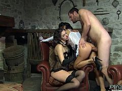 Two naughty and gorgeous babes Aurora Oliviera and Marika Ferrero are making this guy feel so goof. They start from double BJ and then end up getting a hot facial.