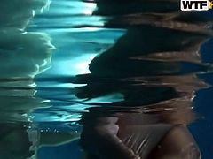 Group of horny young folks make out in the pool of sauna. Voracious sluts give a head to kinky dicks in front of each other in steamy group sex clip by WTF Pass.