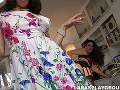 Luscious Paige is eating profusely slick pussy of horny lesbian mom
