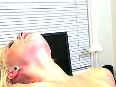 Petite blondie with nice parts of body Elaina Raye is spending tons of cool time with Peter North. The handsome dude is going to lick juicy pussy of cutie before drilling her.