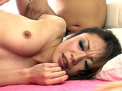 Asian pretty gal with nice tits and pale rounded butt has a strong desire to be fed with cum. That's why horny chick doesn't hesitate to suck several hot dicks at once. Ardent nympho bends over for being fucked doggy. Just pay attention to hot Jav HD sex clip and get ready to jizz at once.