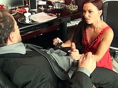 Divine and smoking hot office girl Alysa seduces her colleague in the office and makes him eat her twat after she sucks his dick. Then babe gets drilled and fisted.