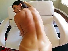 Superb brunette raven India Summer loves feeling Kevin Moore fucking her in doggy