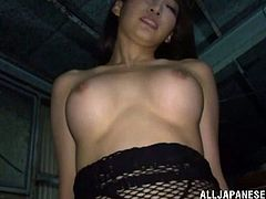 Amazingly hot Claire Hasumi gives hot blowjob and a titjob to some guy. After that she gets fucked nice and deep.