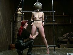 This girl is so capable of standing any pain that she possibly can get in this BDSM video. She is tied up and waxed all over her sexy body, having a limited amount of oxygen.