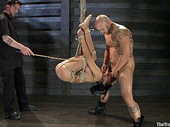Watch this brunette bitch get tied up with ropes, so that she can't wiggle or move in any way whatsoever. It's pain and humiliation of the likes she has no experienced before.