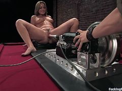 After watching this babe being pleased by a fucking machine, you'll end up busting a nut while she has various orgasms thanks to this machine.