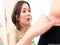 Lascivious Japanese enchantress Emi Orihara knows how to make her lover happy. She really knows how how to work the magic stick. She sucks his cock with passion, driving him nuts.