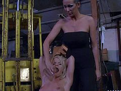 This compilation features Mandy Bright punishing lovely slave girls with no mercy. Shes a mistress that loses to play with naked helpless sweet girls. Watch slave chicks get their pussies used by Mandy Bright.