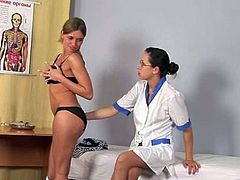 Lesbian doctor and hot patient