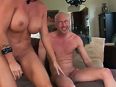Shay Fox is fantastical milf. She has sexy short hairstyle, incredibly beautiful big and round boobs, delicious hips and tanned skin. Today she has sweet time with her ex husband.