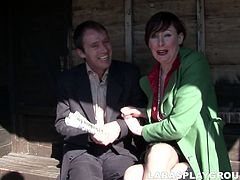 This clown face from Britain desires to be get her mature cunt banged today. Kinky slut in stockings and sexy red dress desires to gain her portion of delight. So bitchie British housewife seduces a man and gets hammered doggy right away.