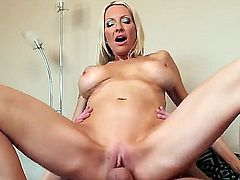 Busty beauty Emma Starr lets hunk Sonny Hicks enjoy her wonderful and tight pussy