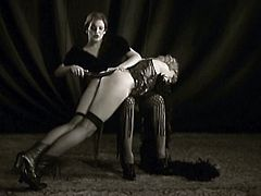 It's time for some retro-oriented porn with Paula Rosengarthen and Sonya Sovereign, two German babes having some classy kinky lesbian sex.