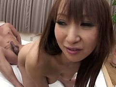 Sextractive Japanese mom rides a sturdy penis in reverse cowgirl style while her mouth is busy giving an oral fuck. Later she gets double fucked in steamy threesome sex video by Jav HD.