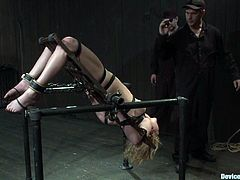 There's going to be extreme bondage and toying action in this video with the sexy Lily Labeau who enjoys and suffers the BDSM.