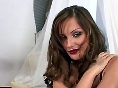 Blonde Clara G. is curious about toy fucking her love tunnel on cam