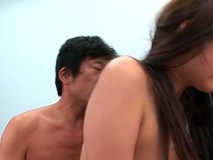 Mind taking Japanese babe makes out with aroused BF in reverse cowgirl, doggy and missionary styles in sultry sex video by Jav HD.
