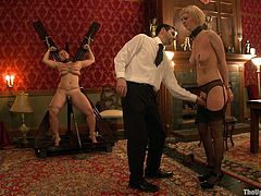 This slaves haven't been following the protocol of the House. Watch this tramps getting the deserved punishment and showing how pussies are supposed to be licked.