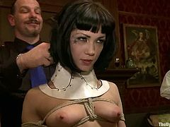 This wild BDSM video is filled with lust and domination... Galore of restless whores get bounded, tied up and brutally fucked in all possible poses!