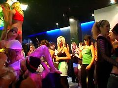 Tainster sex clip will show you how horny and hot some gals are. Slim bitches with nice tits are mad about casual group sex. Several hookers are already absorbed with riding and sucking dicks. The other nymphos with smooth butts have nothing against licking pussies in the middle of the club.