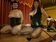 Take a look at this bondage scene where these two slutty ladies as fucked, masturbated and humiliated by guys and a hot mistress.