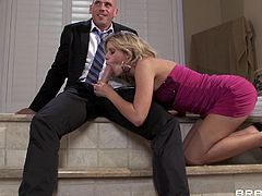Johnny's wife is jealous because he wants to fuck another broad but she has something in mind that will surely make her man happier. She allows him to fuck her but she wants to join in! Soon, both the sensual brunette and the smoking hot blonde are sucking the man's big hard cock and he is very pleased with that.