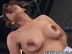 Hairy japanese babes gets hard bondage.