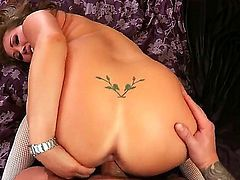 Kianna Dior with massive boobs is on the way to the height of pleasure with hard cocked dude Clover